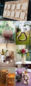 wedding decoration ideas with wine corks for vineyard themed events