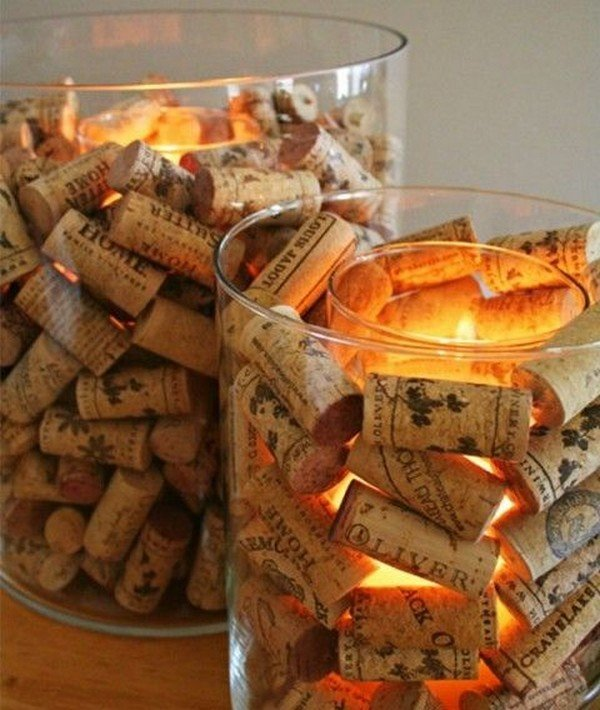 wine cork wedding centerpiece ideas