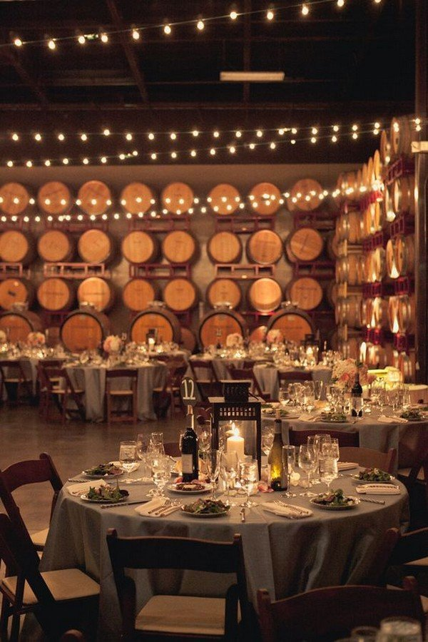 wine themed wedding reception ideas