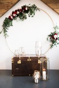 boho wedding backdrop decoration ideas with geometric lanterns