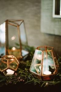 chic gold geometric lantern wedding decorations