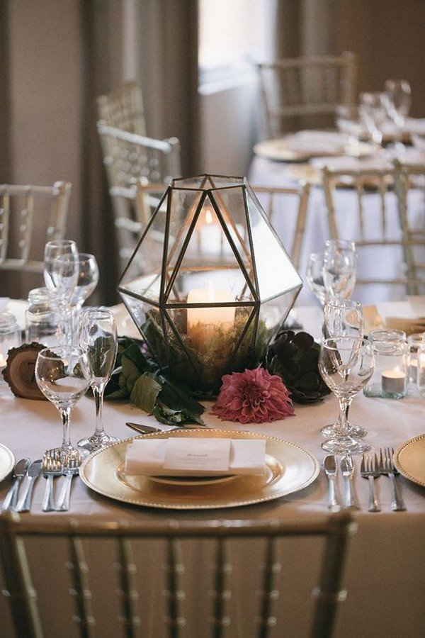 geometric lantern wedding centerpiece ideas