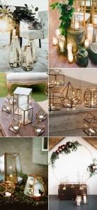 geometric lantern wedding decoration ideas
