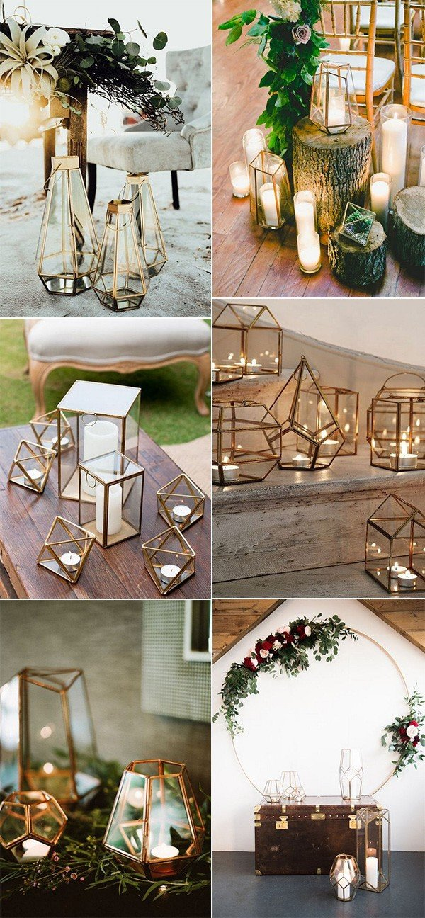 geometric lantern wedding decoration ideas