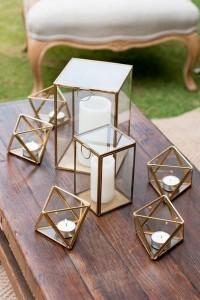 geometric lanterns for wedding decorations