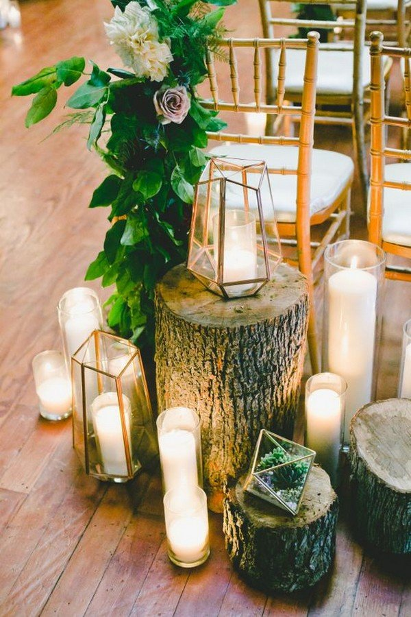 geometric lanterns wedding decoration ideas