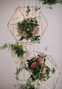 hanging geometric wedding decoration ideas