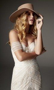 Ash off the shoulder lace wedding dress Rue De Seine 2