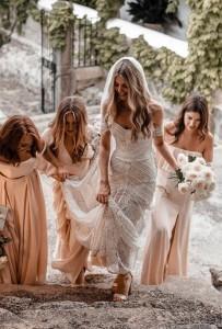 Ash off the shoulder lace wedding dress Rue De Seine 3