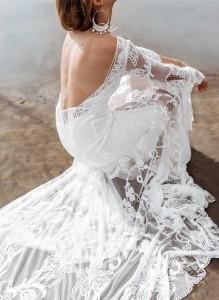 Bohemian wedding dress with long sleeves Adelia Lune from Rue De Seine