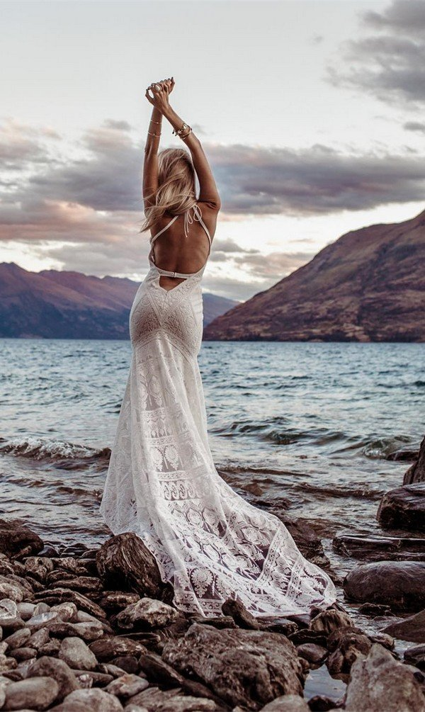 Boho lace wedding dress Cosmic Coralee from Rue De Seine