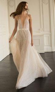 Eisen Stein Alisson beaded deep v neck wedding dress 2018 collection