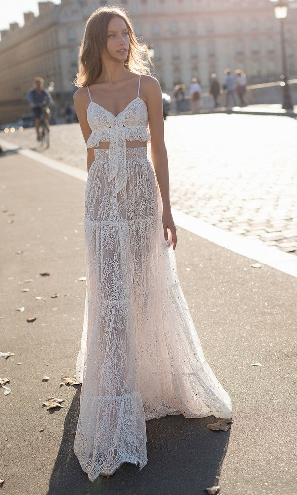 Eisen Stein Emma two pieces lace wedding dress 2018 collection