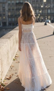 Eisen Stein Emma two pieces lace wedding dress back view
