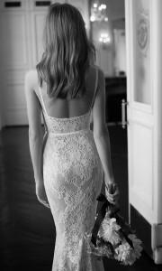 Eisen Stein Sofia lace wedding dress with low back