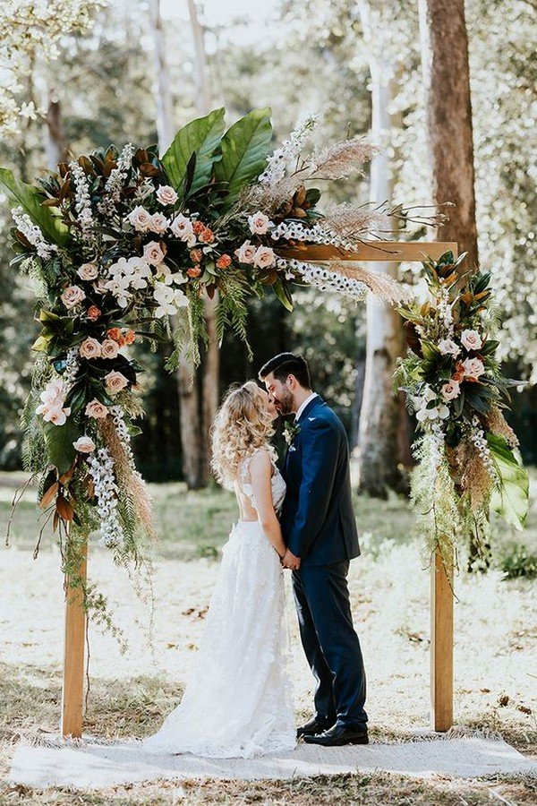 bohemian themed wedding arch ideas