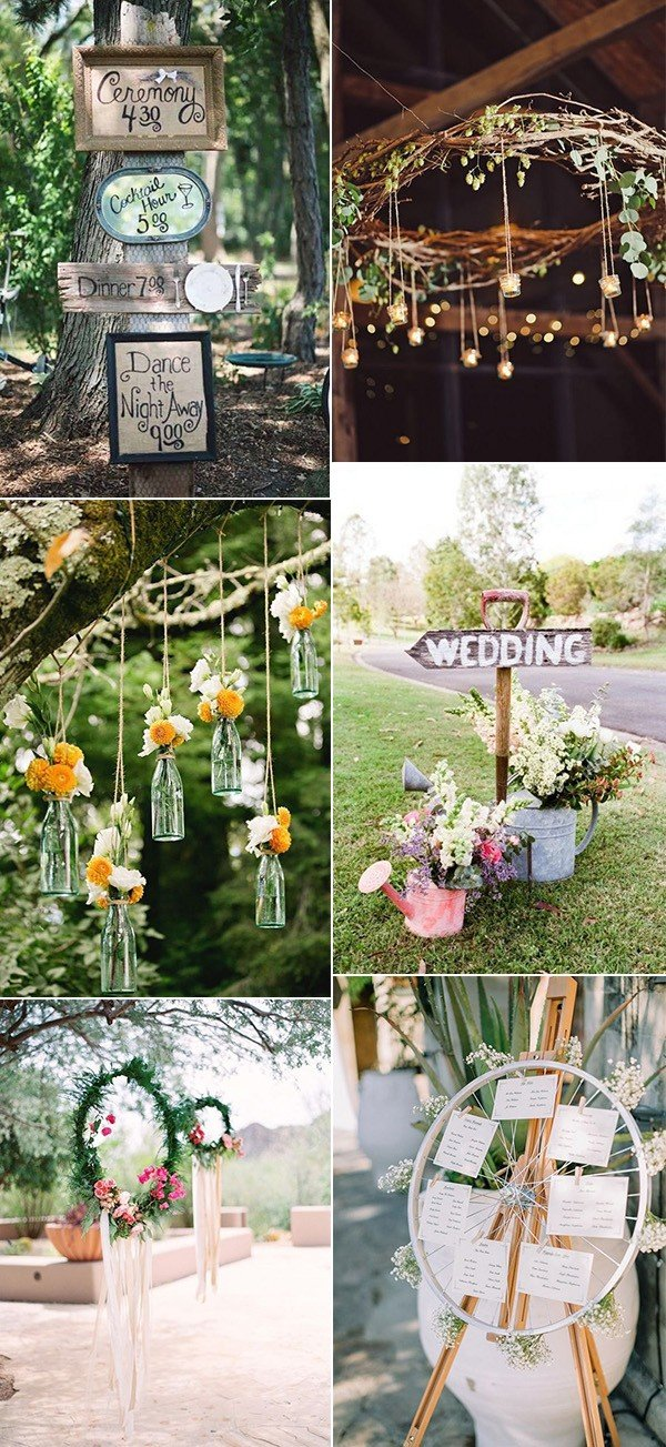 boho chic outdoor wedding decoration ideas