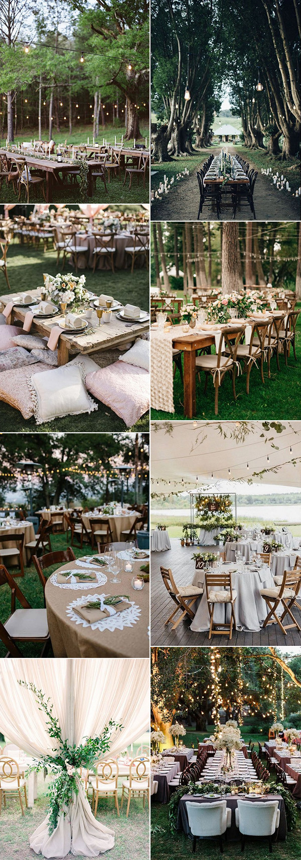 boho chic outdoor wedding reception decoration ideas