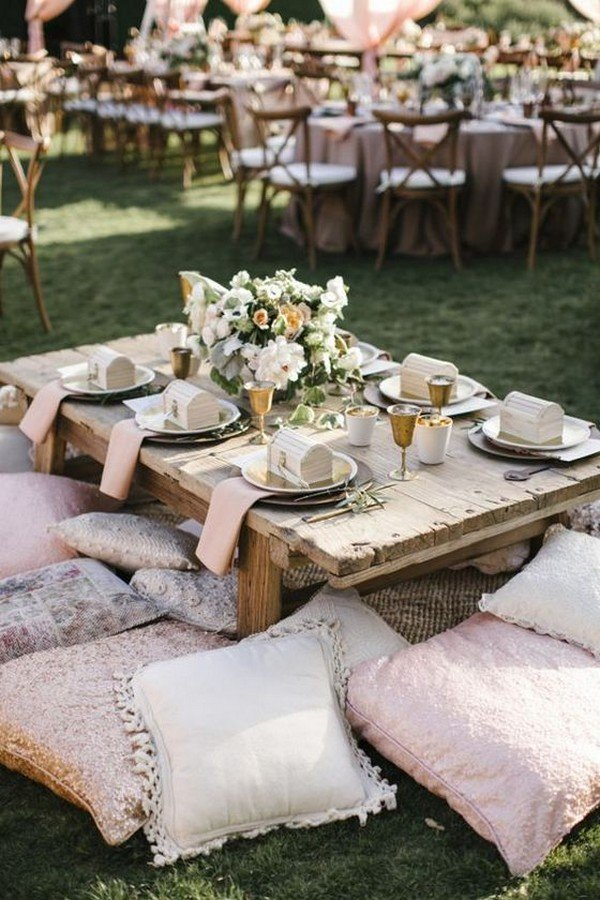 boho chic outdoor wedding reception ideas