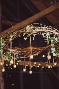 boho chic wedding chandelier ideas