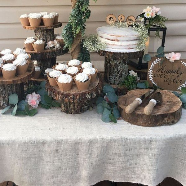boho chic wedding food station decoration ideas