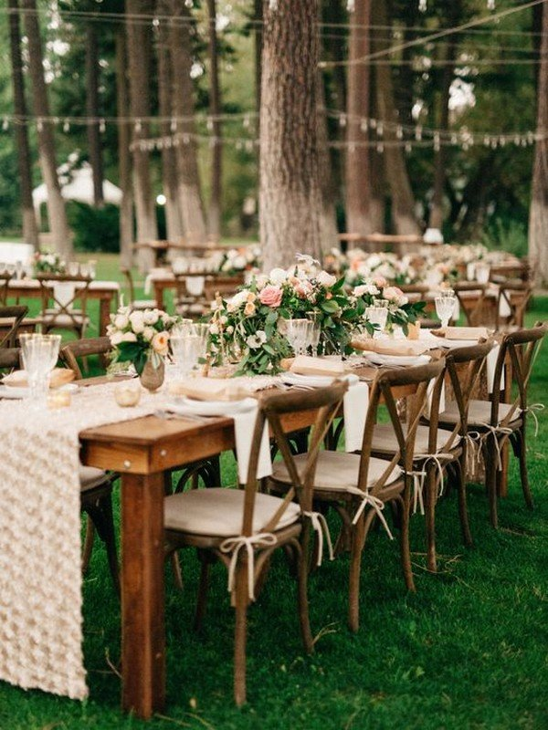 boho chic wedding reception decoration ideas