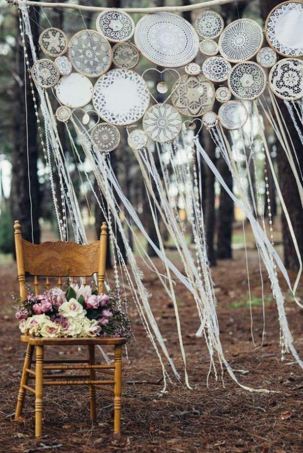 boho dream catcher wedding arch