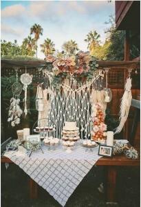 boho themed wedding dessert bar ideas