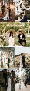 bride and groom romantic wedding photos