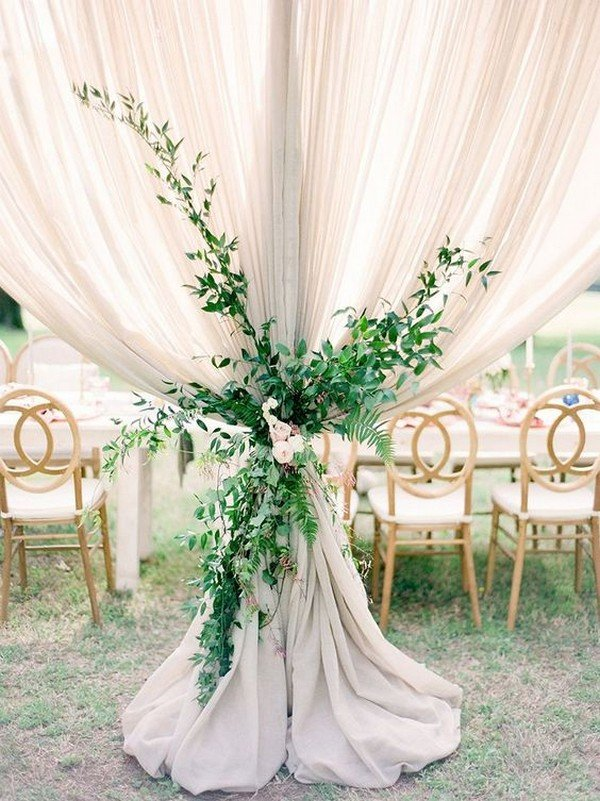 chic boho wedding reception decoration ideas