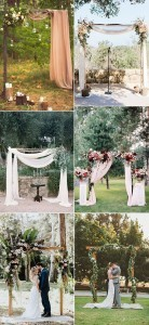 chic outdoor wedding arch decoration ideas