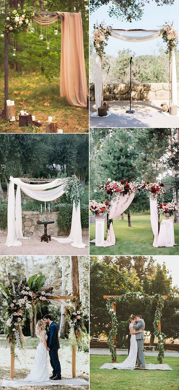 chic outdoor wedding arch decoration ideas