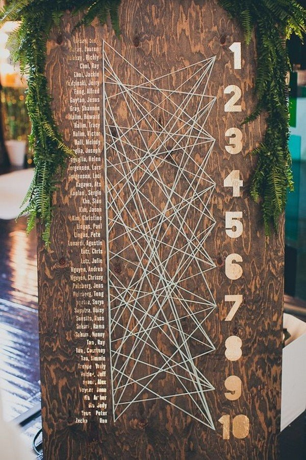 creative wedding seating table chart ideas
