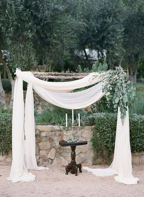 elegant boho themed wedding arch decoration ideas