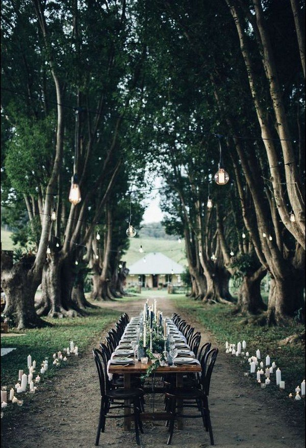 outdoor boho chic wedding reception ideas