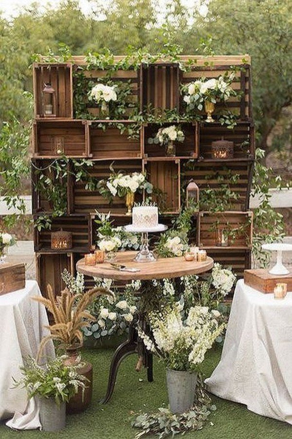 outdoor boho wedding food station ideas