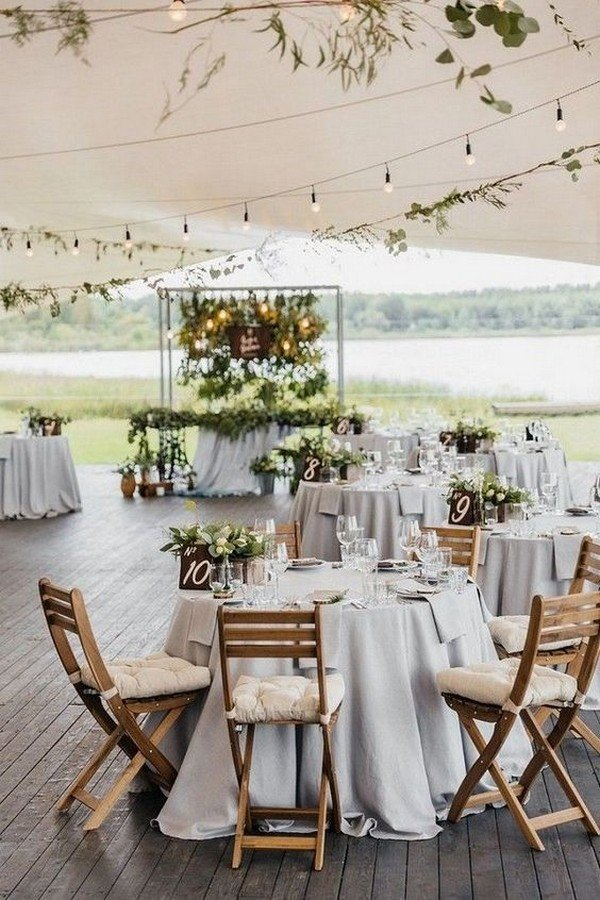 outdoor tented wedding reception ideas
