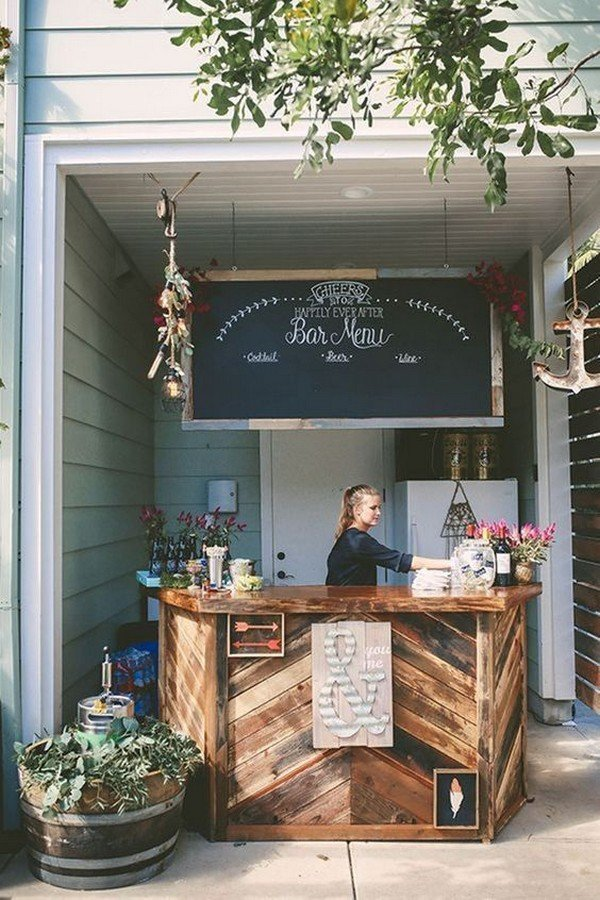 outdoor wedding bar ideas