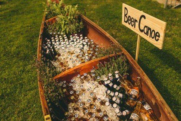 outdoor wedding drinks server ideas