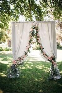 romantic outdoor floral wedding backdrop ideas
