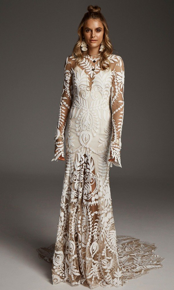 stunning Avril boho lace wedding dress from Rue De Seine 2