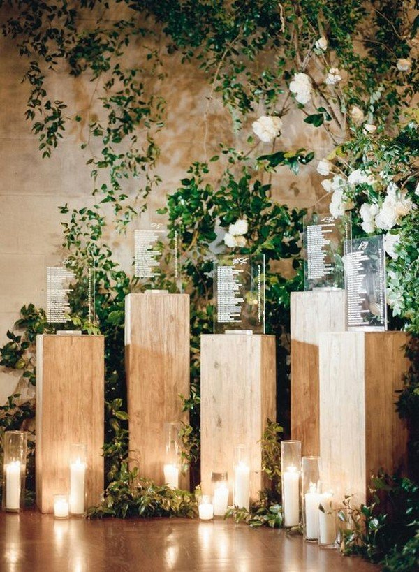 stunning wedding seating chart decoration ideas