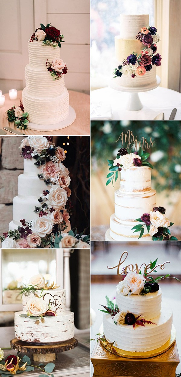 2018 trending fall wedding cake ideas