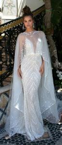 Berta 2019 mermaid wedding dress with long cover