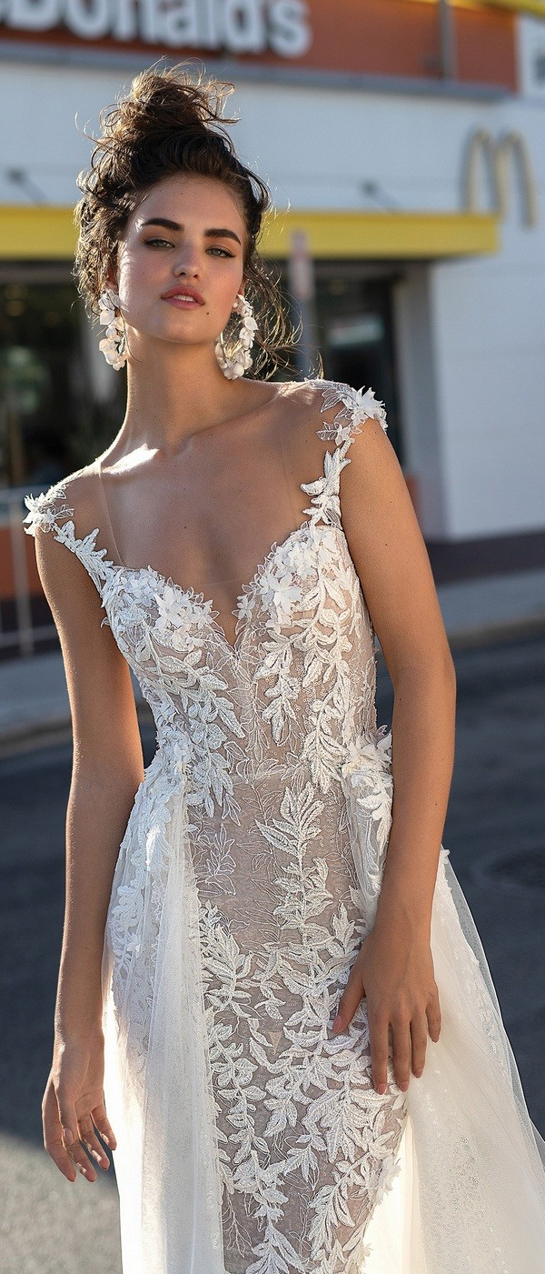 Berta floral a line wedding dress 2019 collection