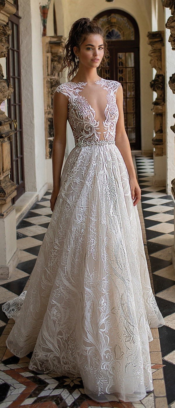 2019 Lace Long Sleeve Vintage A Line Party Dress: Berta Wedding Dresses Spring/Summer 2019 Collection