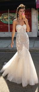 Berta mermaid sequined wedding dress