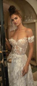 Berta off the shoulder floral wedding dress for 2019