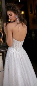 Berta strapless sequined wedding dress back view 2019 collection