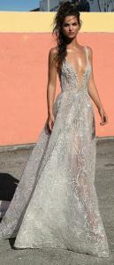 Berta vintage beaded v neck wedding dress 2019 collection